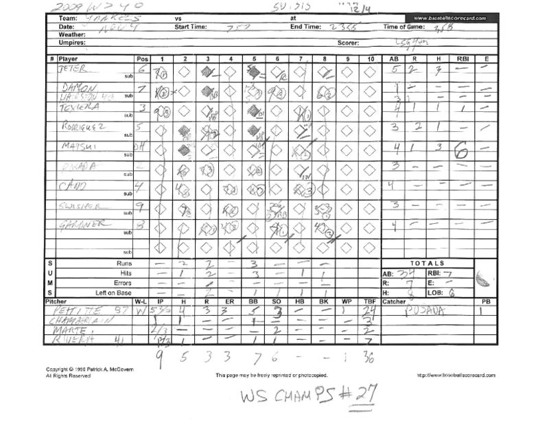 2009 WS scorecards Yanks 27th WS title 4-2 vs Phila_Page_12