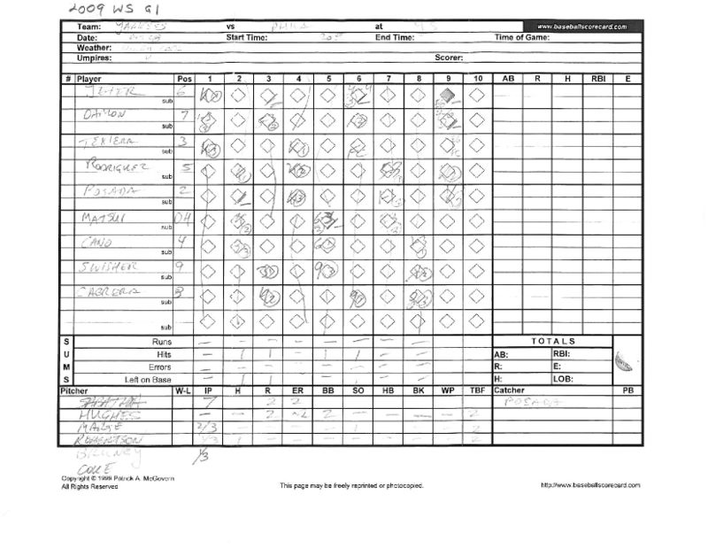 2009 WS scorecards Yanks 27th WS title 4-2 vs Phila_Page_02