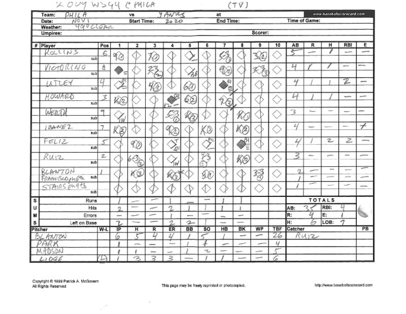 2009 WS scorecards Yanks 27th WS title 4-2 vs Phila_Page_08